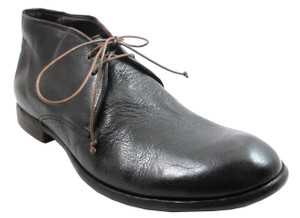Davinci 9918 Men's Buffalino Tmoro Lace-Up Italian Chukka Ankle Boot in Dark Brown