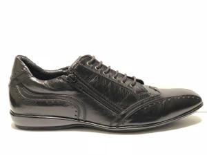X Bacco Men's Italian Designer Sneakers Black and Brown