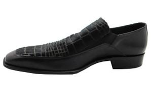 Doucals 6857 Men's Pony Hair Dress Shoe, Black