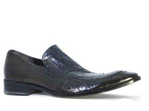 Davinci 2508 Men's Italian Slip-on shoes, Black