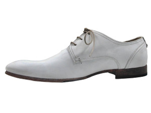 Davinci Men's 9930 dressy Italian Leather Lace up Oxford Shoes White