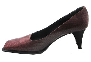 Davinci G1037 Italian Women's square toe Mid Heel Pumps in Purple