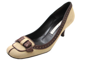 Women's Dressy Leather/Fabric shoes by Pura Lopez 608