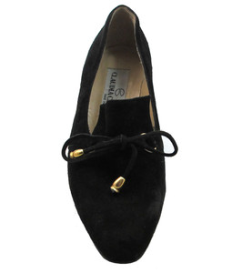 Claudia Ciuti Donata Women's Italian Low Slip-On Heels in Black suede