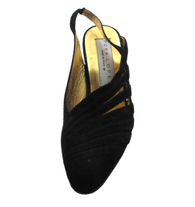 Pura Lopez 6099 Women's Pointy toe sling back mid heel Sandal