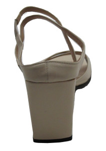 Women's Italian Slip on Sandal With Wedge Heel 1898, Beige