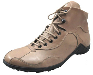 Davinci Men's 7416 Italian Dressy Sneakers in Taupe