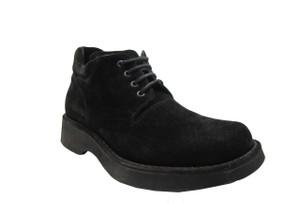 Davinci Men's 8495 Italian Suede Leather Ankle Boot Black