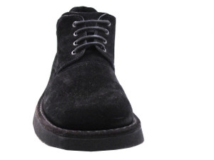 Davinci Men's 8495 Italian Suede Leather Ankle Boot Black