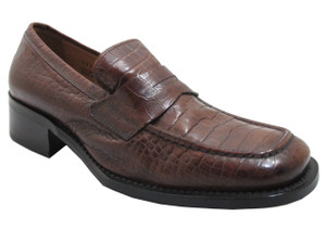 Davinci 171 Italian Moc Toe Slip on Loafer, Black