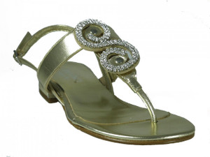 Davinci Women's 2773 Italian Dressy Luxurious Sandals  in Light Gold