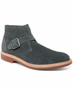 Kenneth Cole Men's Best of Chuck Suede Ankle Strap Buckle Boot Chukka
