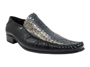 Davinci snake skin slip on shoes