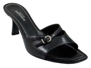 Romanelli 9409 Women's Italian Slide mid Heel Open Toe Sandals