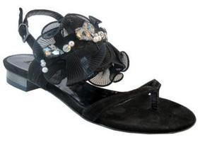 Barachini Designer 15208 Women Italian dressy Flat Sandals