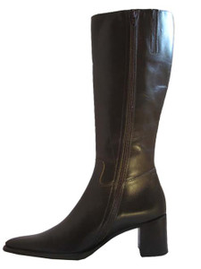 Davinci Italian Women's Knee High Medium Heel Boots 17047