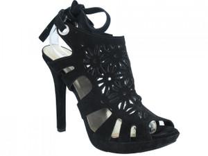 Women's Davinci Italian Dressy High Heel Sandals Black 3787