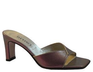 Women's 1273 Italian Leather Slide On Sandals Purple