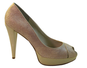 BCBGIRLS Women's Fuller High Heel Peep Toe Pump