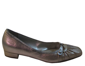 Franco Sarto Women's Features Slip on Flat Shoes Silver