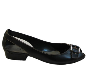 Franco Sarto Women's Tap Peep Toe Flat Shoes Black