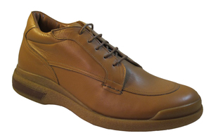 Men's Italian 27046 Round Toe Lace Up Casual Shoes by Low Tide  in Tan