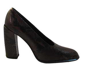 Via Spiga Women's Smash Italian Python High Heel Pumps