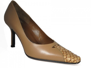 Women's Davinci Italian Dressy/Casual Leather Shoes 4104 Tan and Black