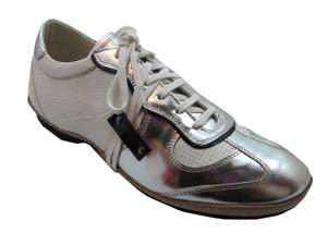 Frontiera Men's Fashion Italian sneakers white/Silver 4395