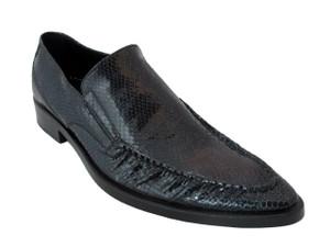 Men's Doucals 7011 Italian Snake Leather Dressy slip on shoes