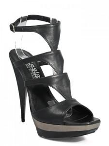 Biondini 7575 Women's Dressy High Heel Leather Italian Sandal