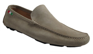 Men's Davinci Slip on Italian Suede shoes 8565,navy and Beige