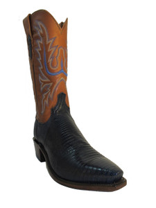 Lucchese 1883 Men's Cowboy Boots N8953.54 Lizards Navy Blue