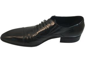 Doucal's 10206 Black Patent Dressy Shoes