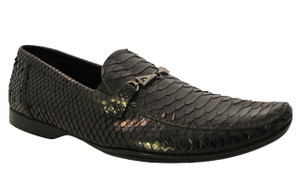 GNV Designer for Davinci Genuine Python slip on shoes