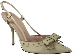 Pura Lopez 329 Women's Dressy Slingback Closed Pointy Toe Mid Heel Sandal