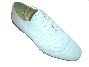 Francesconi Men's Italian Lace Up Sneakers  White  0404