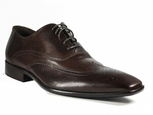 Morandi 2631 Men's Italian designer lace up wingtip Shoes