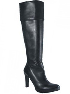 Julie Dee Women's 4421 Italian  Over The Knee Mid-Heel Boots Black