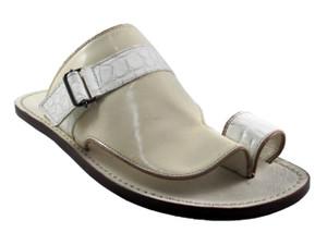 Men's 529 Men's Leather Italian Sandal, Off White