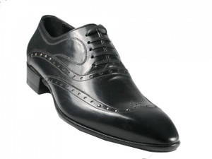 Men's Pointy Laceup oxford Shoes Black 10197 Doucals