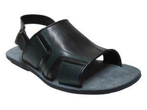 Men's Davinci Italian Dressy Leather Sandals With Strap In The Back 795