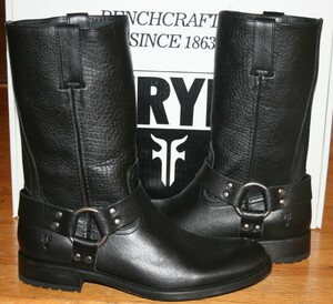 Frye Harness Boots Jackson Black