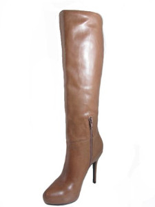 Barachini Women's 18568 Dressy High-heel Italian Leather Boot in Tan