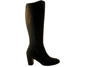 Lamica Ellesy  Mid Heel Women's Italian Knee High Boot Black