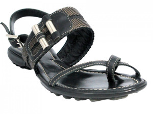 Women's 1025 Lamica Italian Leather Push In Toe Flat Sandals Size 36