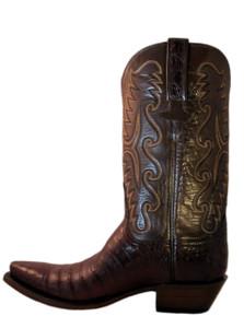 Lucchese Classic Men's Cowboy Boot E2144.54 Sienna Caiman Antique Brown