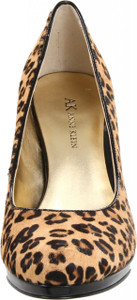 AK Anne Klein Women's Watchit Platform Leopard Print High Heel Sexy Pumps, Fur
