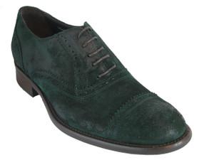 Men's Davinci Italian Lace Up Suede Leather Wingtip shoes  1065