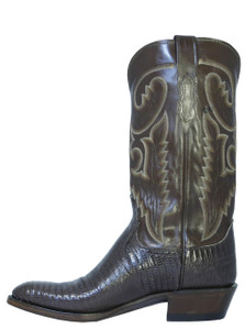 Lucchese Men's Cowboy Boots T6181.J4 IC Lizard Distressed Brown Buffalo